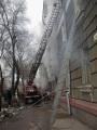 Тушение пожара в пятиэтажном жилом доме на ул. Советская.