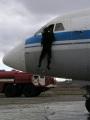Пожар на самолете ЯК-42, учение МЧС. Саратовский аэропорт.