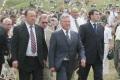Президент Республики Башкортостан Муртаза Рахимов (слева) и губернатор Саратовской области Павел Ипатов. Праздник Сабантуй, село Усть-Курдюм.