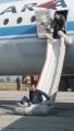 Учебное тушение горящего топлива самолетов. Саратовский аэродром.
