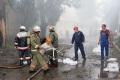 Пожар в складском помещении  оптового рынка. Сокурский тракт, Саратов.